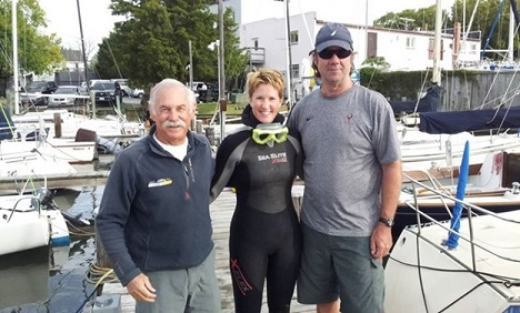 Dave Ullman, Marlene Plumley, Dave Perry, Anne Arundel Dive Services